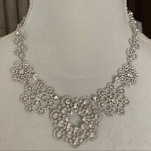 KATE SPADE CRYSTAL LACE FLORAL NECKLACE